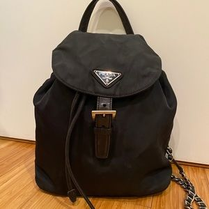 Prada Backpack on a Chain